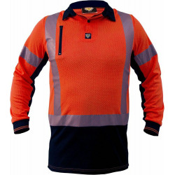 Caution MicroVent Day/Night L/S Polo