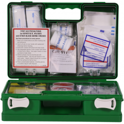 In2Safe 1-12 Person First Aid Kit-Plastic Box