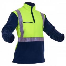 Caution Day/Night 1/2 Zip Fleece Pullover
