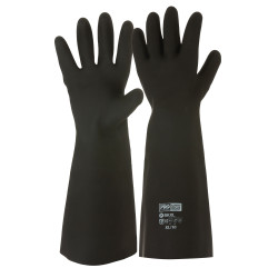 PRO Black Knight Latex Gauntlet Gloves