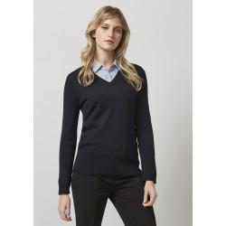 Biz Milano Womens V-Neck Pullover