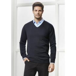 Biz Milano Mens V-Neck Pullover