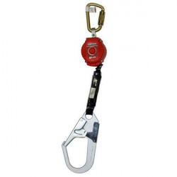 Miller TurboLite 2m Type 2 Fall Arrestor w/ Aluminum Twistlock Karabiner & Scaffhook