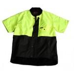 Outback Oilskin Vest with Hi-Vis Top : Short Sleeve