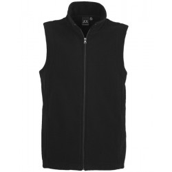 Biz Plain Micro Fleece Mens Vest