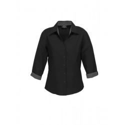 Biz Contrast Oasis Womens 3/4 Sleeve Shirt