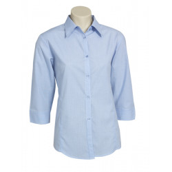 Biz Micro Check Womens 3/4 Sleeve Shirt