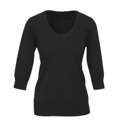 Biz Scoop Neck Ladies Pullover