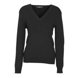 Biz V-Neck Womens Pullover