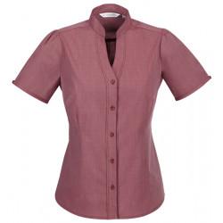 Biz Chevron Womens Stand Collar Shirt