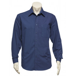 Biz Micro Check Mens Long Sleeve Shirt