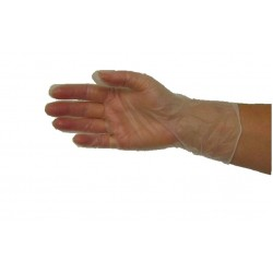 Handplus Vinyl Low Powder Disposable Gloves-50pr Box