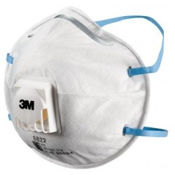 3M 8822 P2 Valve Particle/Fume Dust Masks