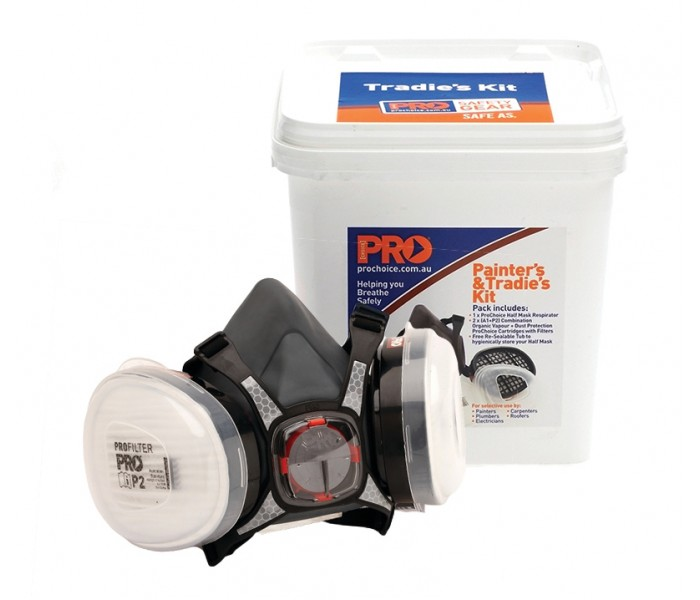 PRO A1/P2 Half Mask Respirator & Filter Kit