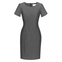 Biz Corporate Rococo Knit Short Sleeve Ladies Shift Dress