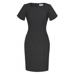 Biz Corporate Comfort Wool Stretch Short Sleeve Ladies Shift Dress