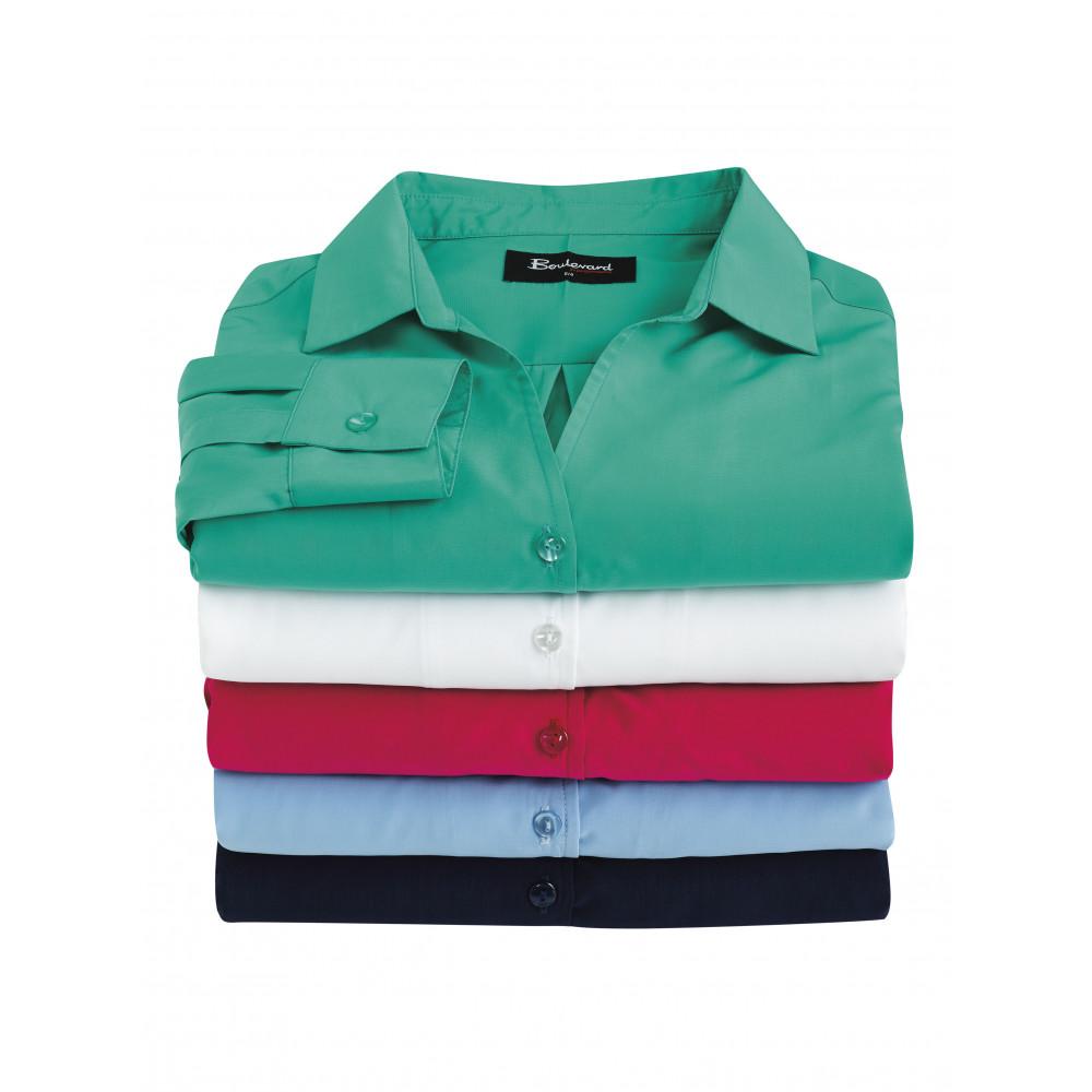 20d42a7dcbe Biz Corporate Solanda Ladies Plain Long Sleeve Shirt