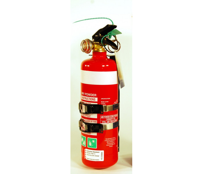 Chubb 1kg ABE Dry Powder Fire Extinguisher w/ Metal Bracket