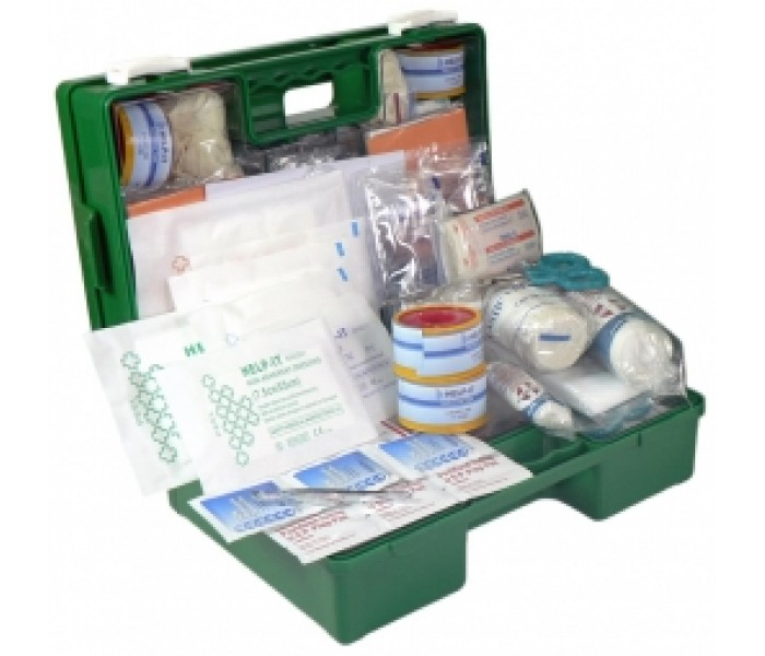 Road Materials Workgear Industrial 1-25 Man Wall Mount First Aid Kit