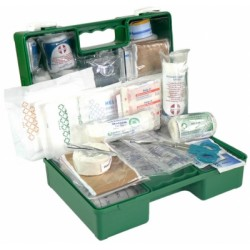 Road Materials Workgear Industrial 1-12 Man Wall Mount First Aid Kit
