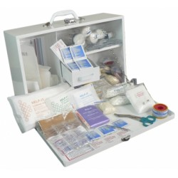 Help-It Industrial Metal Cabinet First Aid Kit 1-50 Man