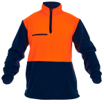 Caution 1/2 Zip Day Only Fleece Top-Fluro Orange/Navy