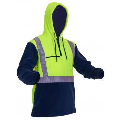 Caution Day/Night 1/2 Zip Fleece Hoodie