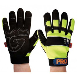 PRO Fit Full Finger Hi-Vis Gloves