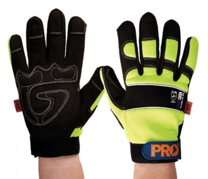 PRO Fit Full Finger Hi-Vis Gloves