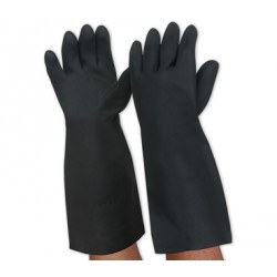 PRO BlackKnight Latex Gauntlet Gloves