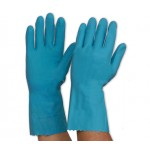 PRO Blue Silverlined Rubber Gloves
