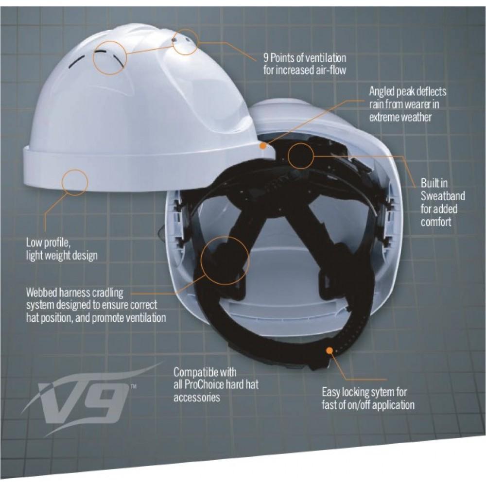PRO V9 Vented Hard Hat