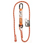 LINQ Shock Absorbing Adjustable Rope Lanyard with Karabiner/Grab