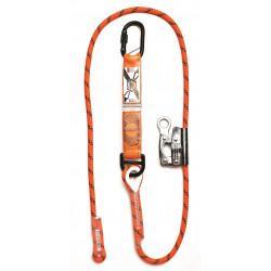 LINQ Shock Absorbing Adjustable Rope Lanyard with Karabiner/Grab