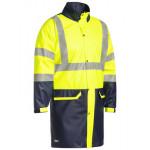 Bisley Stretch PU Day/Night Fluro Yellow/Navy Jacket