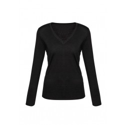 Biz Milano Ladies V-neck Pullover