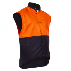 Caution Day Only Oilskin Vest