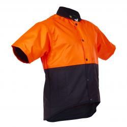 Caution Day Only Oilskin Short Sleeve Vest