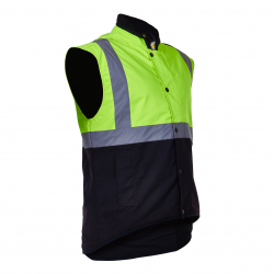 Caution Day/Night Oilskin Vest