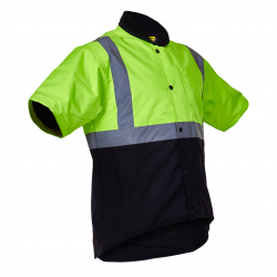 Caution Day/Night Oilskin Short Sleeve Vest