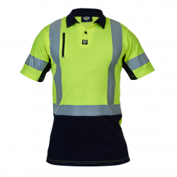 Caution Microvent Day/Night Short Sleeve Polo