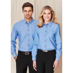 Biz Chambray Mens Long Sleeve Shirt