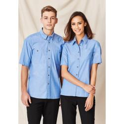Biz Chambray Mens Short Sleeve Shirt