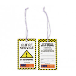 PRO 'Caution Out Of Service' Safety Tags-100pk