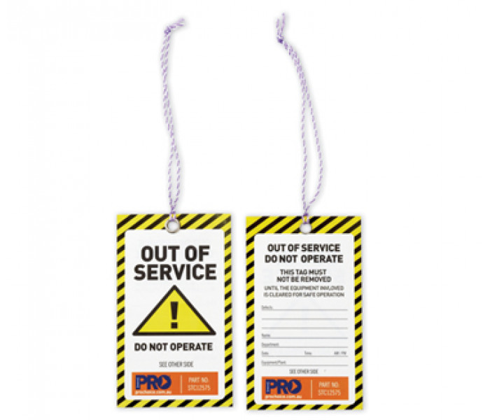 PRO Caution Out Of Service Safety Tags 100pk