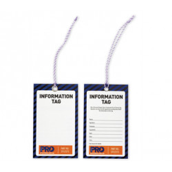 PRO 'Information' Safety Tags-100pk