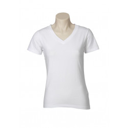 Biz V-Neck Womens Stretch T-Shirt