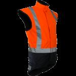 Caution Storm Pro Day/Night Lined Vest-Fluro Orange/Navy