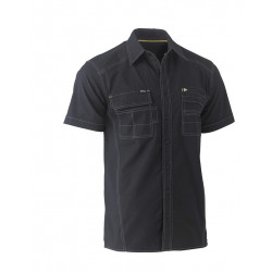 Bisley Flex & Move Utility Zip Stretch Short Sleeve Shirt
