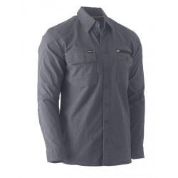 Bisley Flex & Move Utility Zip Stretch Shirt
